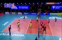 خلاصه بازی والیبال برزیل - آلمان