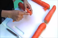 میوه آرایی - آموزش آسان تزیین  هویج به شکل گل