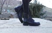خرید کفش مردانه | بوت مردانه تاها مشکی کد 1004
