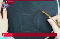 آموزش روبان دوزی | خیاطی | دوختنی | دوخت روبان (روبان دوزی گل تیغ ماهی)