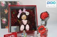 کادو ولنتاین با عروسک خرس قلب به دست