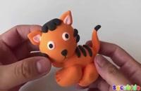 آموزش درست کردن کاردستی گربه با خمیربرای بچه ها
