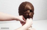 آموزش خلاقانه شنیون مو کوتاه/ آرایش مو