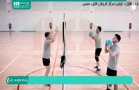 آموزش حرکت ضربدری در دفاع روی تور | والیبال