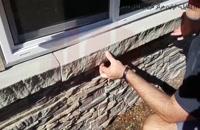 آموزش نصب سنگ آنتیک - روش نصب پانل های سنگی با پیچ و رول پلاک