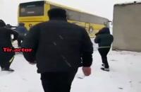 مردم تبریز به یاری اتوبوس سپاهان شتافتند