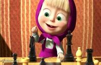 کارتون ماشا و میشا - شطرنج