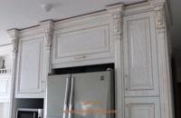 کابینت روکش چوب سفید واقع در  دروس
