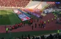 باران سنگ هواداران در ورزشگاه آزادی