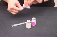 آموزش آماده کردن آمپول جهت تزریقات