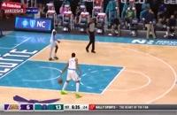 خلاصه بازی بسکتبال شارلوت هورنتس - لس آنجلس لیکرز