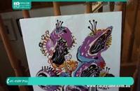 نقاشی آبستره تمبر بالون با رنگ اکریلیک 28423118-021