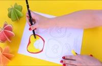 درست کردن میوه های کاغذی - کاردستی مدرسه