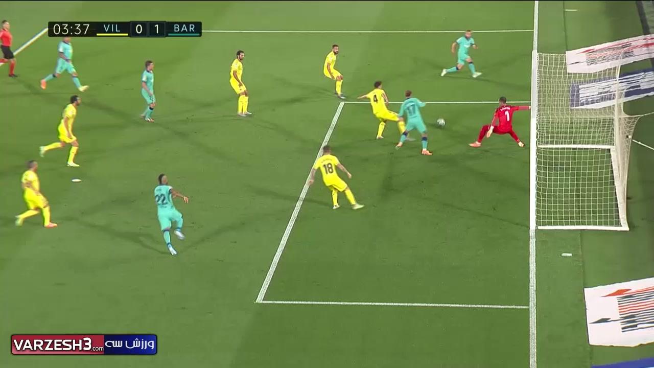 خلاصه دیدار تیم های ویارئال 1 - بارسلونا 4