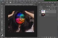 آموزش پاشیدن رنگ روی صورت در فتوشاپ