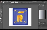 04- طراحی لوگوی تایپی در ایلوستریتور