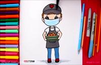 نقاشی برای دوران کرونا کودکانه جدید