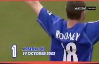 نخستین گل وین رونی در لیگ برتر انگلیس