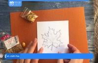 جواهردوزی - آموزش گل سینه طرح برگ پهن