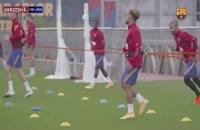 تمرینات بارسلونا با حضور ستاره های این تیم
