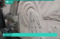 آموزش سنگ تراشی - یادگیری سنگ تراشی دست مجسمه سنگی
