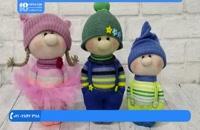 آموزش عروسک جورابی - دوخت عروسک پسرمدل شماره 1