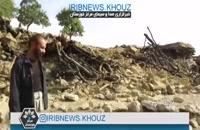 نخستین تصاویر از خسارت زلزله ۵ ریشتری «قلعه خواجه» خوزستان