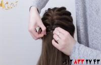 کلیپ شینیون مو با بافت + آموزش بافت مو با کش