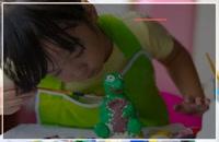 آموزش مجسمه سازی به کودکان - ساختن مجسمه با توپ رسی