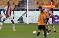 خلاصه بازی وولورهمپتون 1-0 المپیاکوس