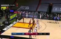 خلاصه مسابقه بسکتبال میامی هیت - دیترویت پیستونز