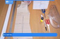 آموزش خیاطی مولر - آموزش کشیدن الگوی یقه انگلیسی
