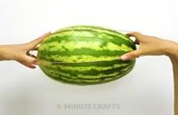 ترفندهای جالب برای برش هندوانه