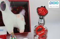کادو آماده ولنتاین با عروسک یونی کورن چشم بسته سفید