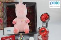 کادو آماده ولنتاین با عروسک یونی کورن نانویی صورتی