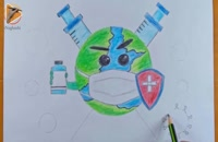 آموزش نقاشی به کودکان | این قسمت نقاشی روز جهانی بهداشت