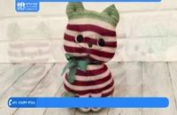 آموزش عروسک جورابی -  دوخت عروسک گربه
