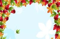 پس زمینه ریزش برگهای پاییز