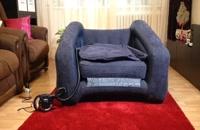 کاناپه بادی تخت شو یکنفره اینتکس