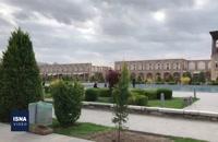 خلوت بودن اصفهان در روز های کرونایی