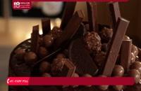 آموزش پخت کیک برای تولد با تزیین شوکولات و کاکائو