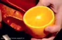 آموزش میوه آرایی و کنده کاری پرتقال به شکل گل!