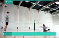 آموزش دفاع روی تور در شرایط بازی والیبال