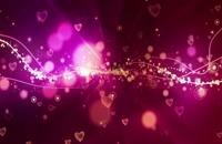 پس زمینه قلب های متحرک دنباله دار