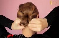 کلیپ خودآرایی مو + چهارمدل شینیون و ساده و زیبا