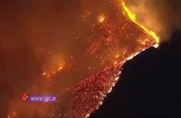 آتش سوزی گسترده در جنگلهای کالیفرنیای جنوبی