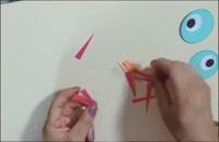 کاردستی گنجشک های کاغذی