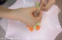 میوه آرایی - تزیین آسان خیار  به شکل گل
