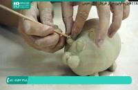 روش ساخت مجسمه ی گلی با دست