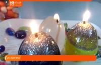 آموزش رنگ آمیزی پارافین و ساخت شمع رنگی